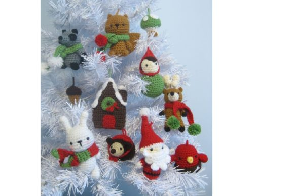 Woodland Christmas Ornament Pattern Set Graphic Crochet Patterns By Amy Gaines Amigurumi Patterns - Image 1