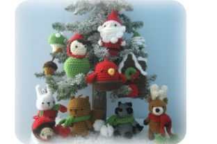 Woodland Christmas Ornament Pattern Set Graphic Crochet Patterns By Amy Gaines Amigurumi Patterns 2