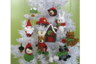 Woodland Christmas Ornament Pattern Set Graphic Crochet Patterns By Amy Gaines Amigurumi Patterns 3