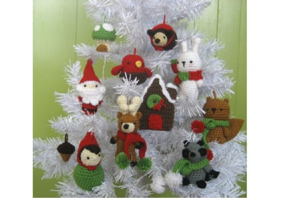 Woodland Christmas Ornament Pattern Set Graphic Crochet Patterns By Amy Gaines Amigurumi Patterns - Image 3