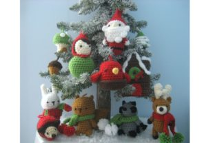Woodland Christmas Ornament Pattern Set Graphic Crochet Patterns By Amy Gaines Amigurumi Patterns 4