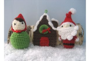 Woodland Christmas Ornament Pattern Set Graphic Crochet Patterns By Amy Gaines Amigurumi Patterns 5