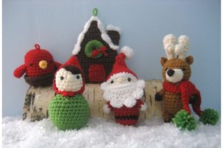 Woodland Christmas Ornament Pattern Set Graphic Crochet Patterns By Amy Gaines Amigurumi Patterns 6