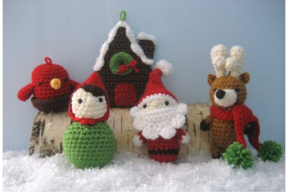 Woodland Christmas Ornament Pattern Set Graphic Crochet Patterns By Amy Gaines Amigurumi Patterns - Image 6