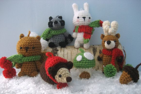 Woodland Christmas Ornament Pattern Set Graphic Crochet Patterns By Amy Gaines Amigurumi Patterns - Image 7