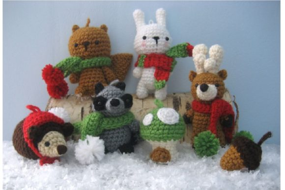 Woodland Christmas Ornament Pattern Set Graphic Crochet Patterns By Amy Gaines Amigurumi Patterns - Image 8