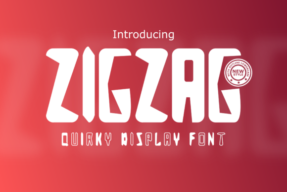 Print on Demand: Zigzag Display Font By Rusd studio