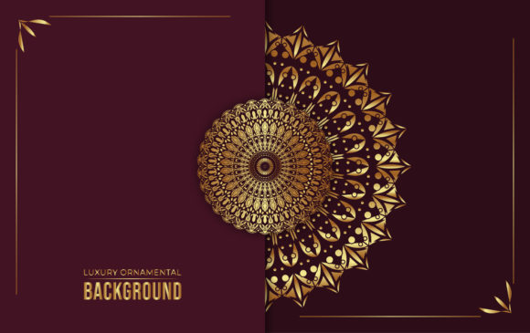 Luxury Ornamental Mandala Background. Graphic Backgrounds By ngabeivector
