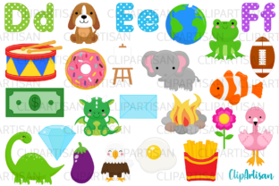 Alphabet Clip Art, a to Z Illustrations Graphic Illustrations By ClipArtisan