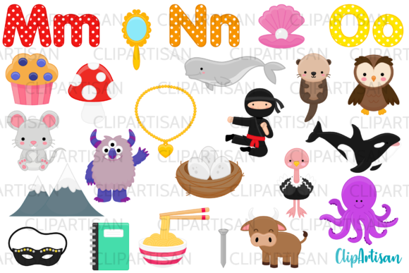 Alphabet Clip Art, Back to School Graphic Illustrations By ClipArtisan