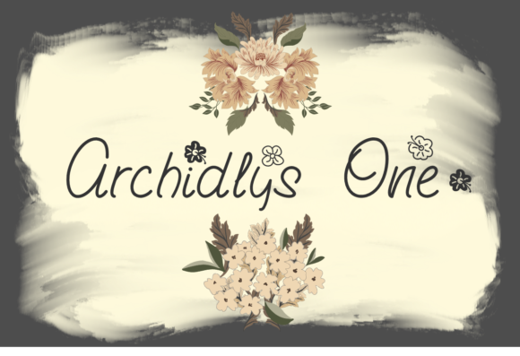 Print on Demand: Archidlys One Script & Handwritten Font By Prast Art