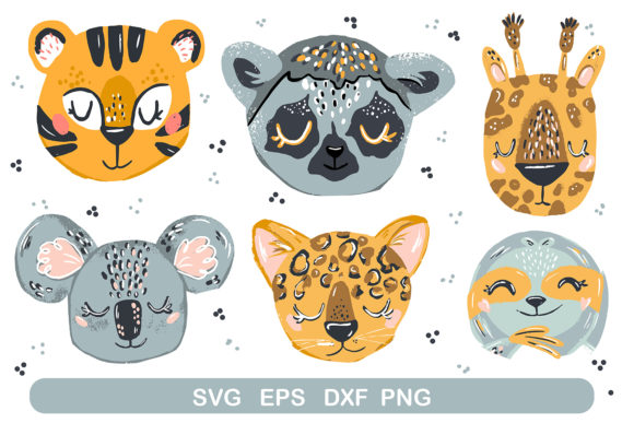 Print on Demand: Baby Animal Faces Graphic Illustrations By Zolotovaillustrator