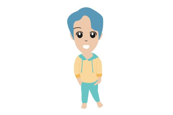 Boy Chibi Character Vector  15 Graphic Illustrations By harunikaart