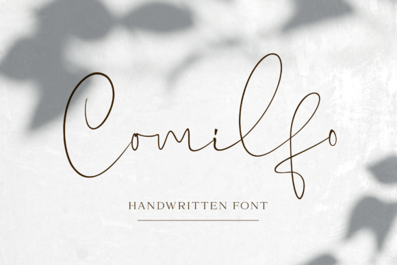 Print on Demand: Comilfo Script & Handwritten Font By Pasha Larin