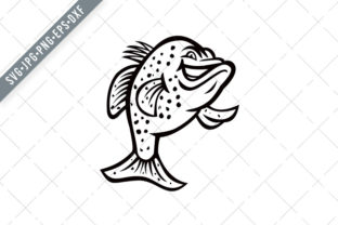 Print on Demand: Crappie Fish Standing Up Mascot Graphic Illustrations By patrimonio