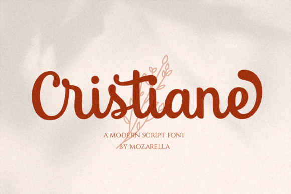 Print on Demand: Cristiane Script & Handwritten Font By Mozarella