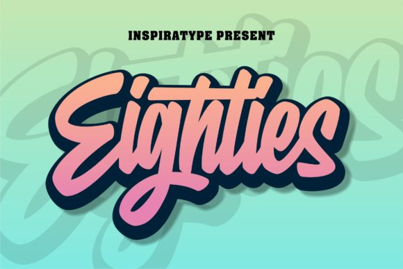 Print on Demand: Eighties Display Fuente Por InspiraType