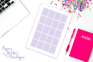Print on Demand: Erin Condren Full Boxes Template Graphic Print Templates By PaperWishesBoutique