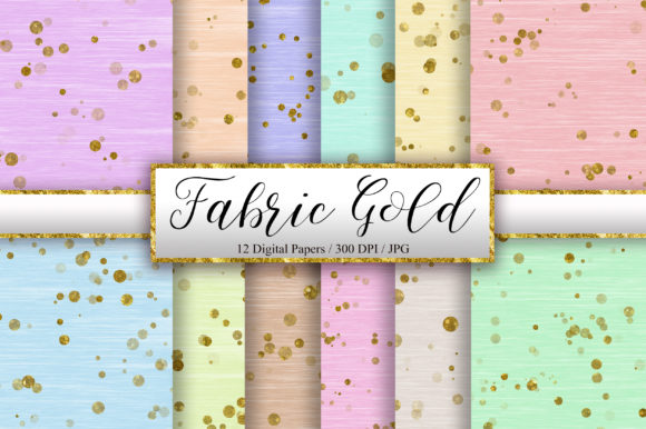 Fabric Gold Glitter Background Graphic Backgrounds By PinkPearly