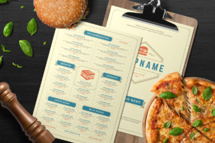 Fast Food Menu Template Graphic Print Templates By vasyako1984
