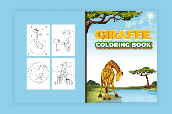 Print on Demand: Giraffe Coloring Pages for Kids Graphic Coloring Pages & Books Kids By MK DESIGNS