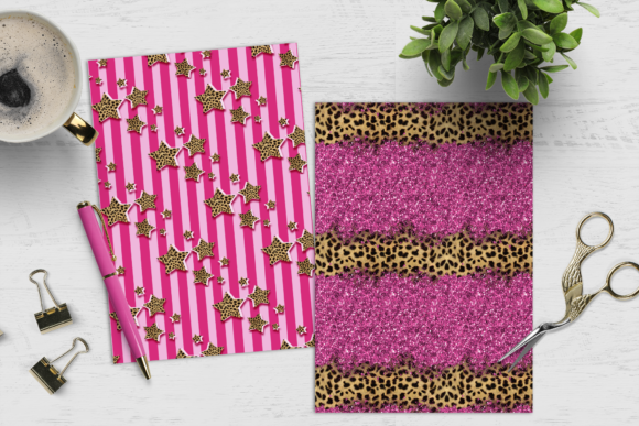 Print on Demand: Girl & Cheetah Print Digital Paper Pack Graphic Crafts By TheGGShop - Image 3