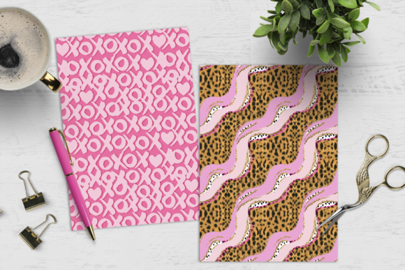Print on Demand: Girl & Cheetah Print Digital Paper Pack Graphic Crafts By TheGGShop - Image 6