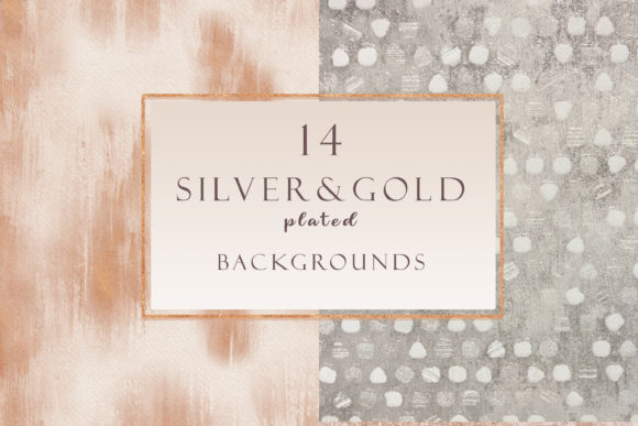 Gold & Silver Plated Backgrounds Set Graphic Textures By liquid amethyst art
