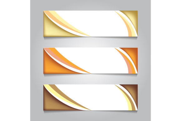 Print on Demand: Golden Luxury Web Banner. Print Banner Graphic Backgrounds By ojosujono96