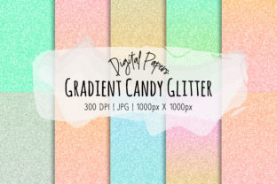Print on Demand: Gradient Candy Glitter Patterns Graphic Patterns By loyaarts