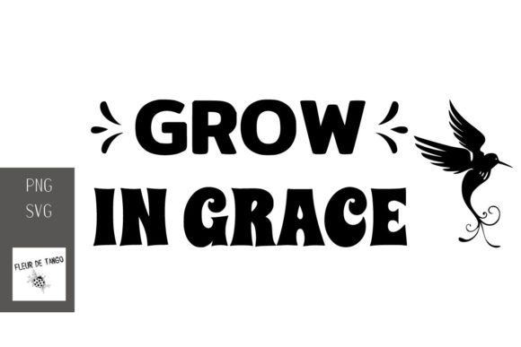 Print on Demand: Grow in Grace Graphic Print Templates By Fleur de Tango