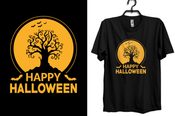 Halloween T-shirt Design Template Graphic Print Templates By Storm Brain