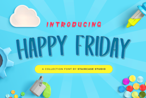 Print on Demand: Happy Friday Display Font By staircasestudio20