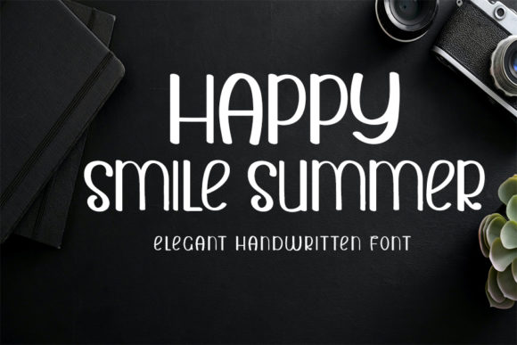 Print on Demand: Happy Smile Summer Display Fuente Por K_IN Studio