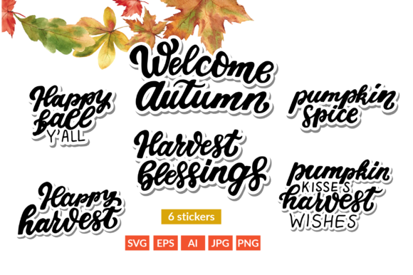 Happy Harvest Fall Quotes Lettering Graphic Illustrations By cyrilliclettering