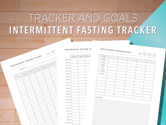Print on Demand: Intermittent Fasting Goals and Tracker Graphic Print Templates By AscendPrints