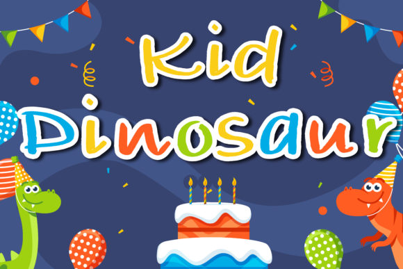 Print on Demand: Kid Dinosaur Script & Handwritten Font By vividdiy8