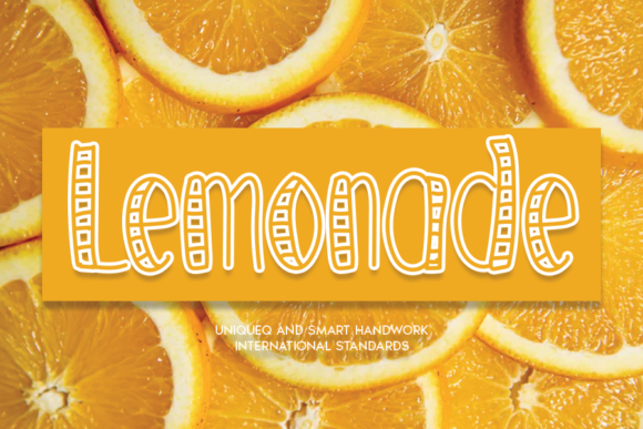 Print on Demand: Lemonade Display Font By andikastudio