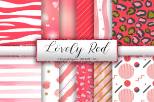 Lovely Red Background Digital Papers Graphic Backgrounds By PinkPearly