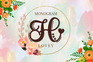 Print on Demand: Lovey Monogram Script & Handwritten Font By airotype