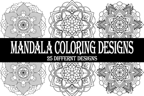 Print on Demand: Mandala Coloring Pages for KDP Designs Graphic Coloring Pages & Books Adults By Gurus Kdp Templates