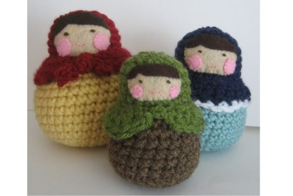Matryoshka Roly-Poly Dolls Pattern Graphic Crochet Patterns By Amy Gaines Amigurumi Patterns