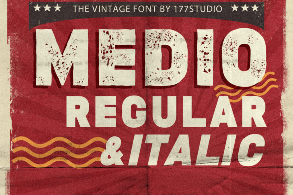 Print on Demand: Medio Display Font By 177Studio