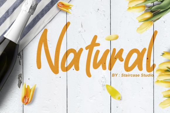 Print on Demand: Natural Script & Handwritten Font By staircasestudio20