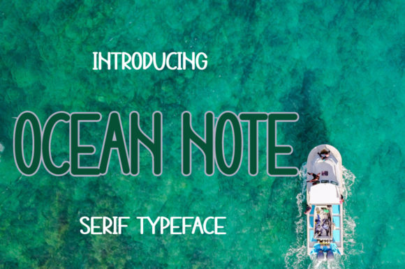 Print on Demand: Ocean Note Display Font By iqbalfaizinm