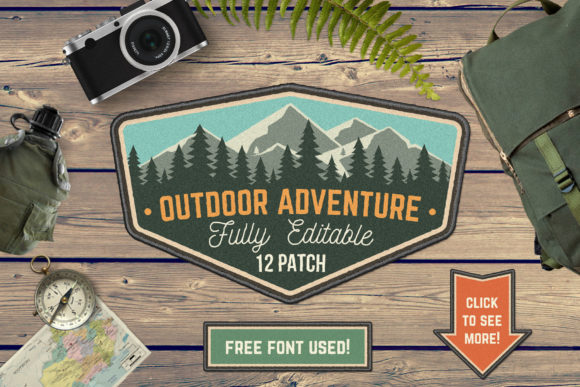 Outdoor Adventure Patch Graphic Logos By serdiuk.igor