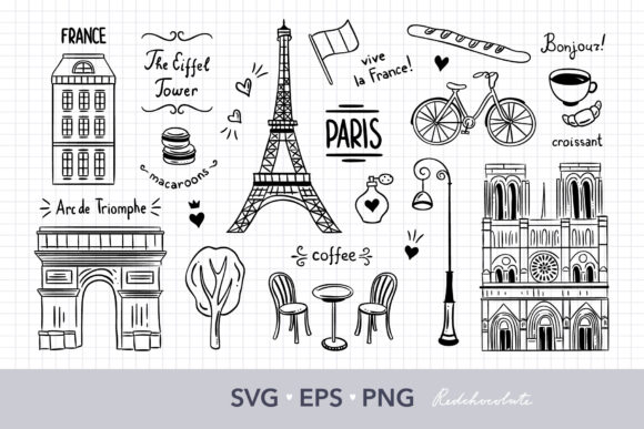 Paris Files for Cricut Graphic Crafts By redchocolate
