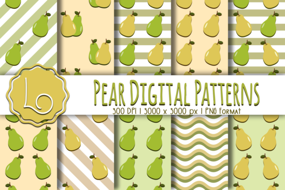 Print on Demand: Pear Digital Patterns Graphic Patterns By La Oliveira