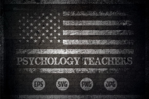 Psychology Teachers - USA Flag Graphic Crafts By Creative Mind