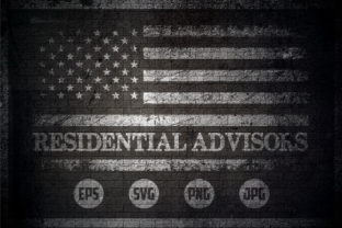 Residential Advisors - USA Flag Graphic Crafts By Creative Mind
